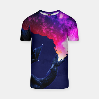 Cosmic Dragon Fantasy Illustration T-Shirt obraz miniatury