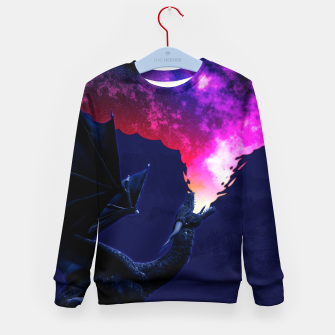 Cosmic Dragon Fantasy Illustration Kindersweatshirt obraz miniatury