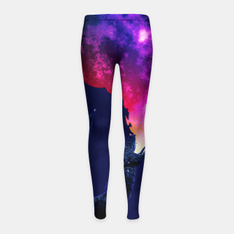 Cosmic Dragon Fantasy Illustration Kinder-Leggins obraz miniatury