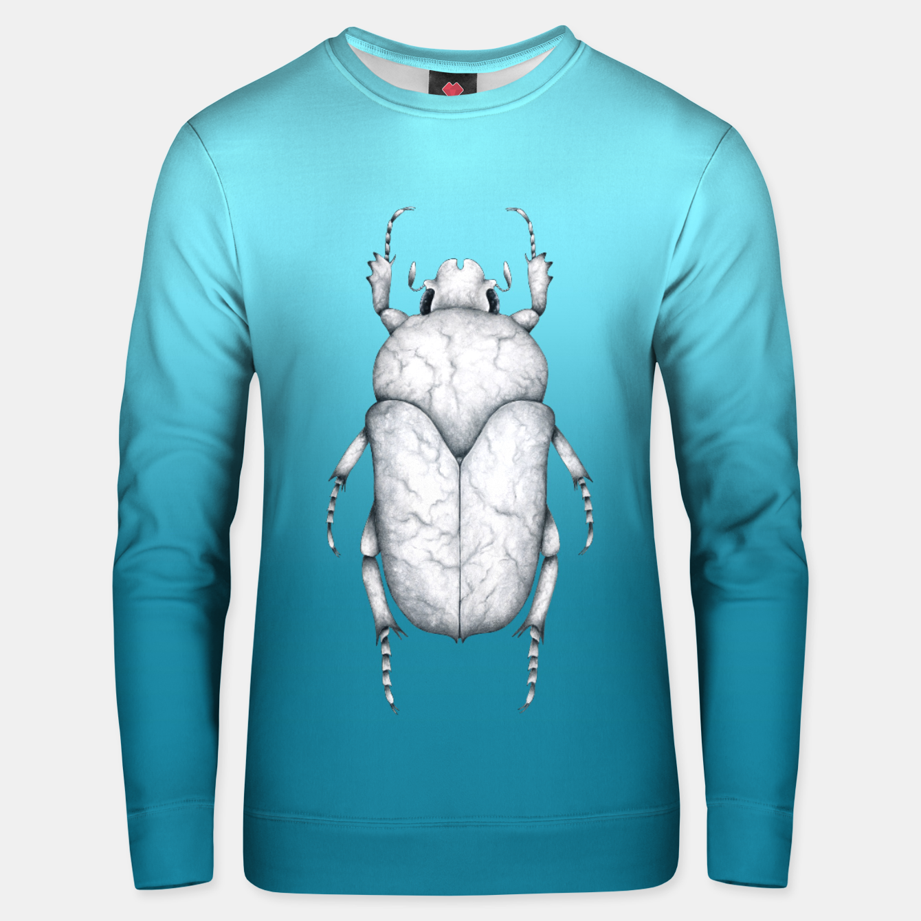 Image de Marble Beetle (Blue Gradient Background) Unisex sweater - Live Heroes