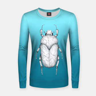 Marble Beetle (Blue Gradient Background) Women sweater miniature
