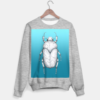 Marble Beetle (Blue Gradient Background) Sweater regular miniature
