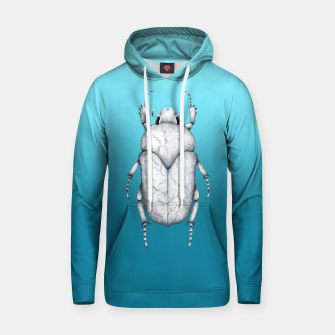 Marble Beetle (Blue Gradient Background) Hoodie miniature