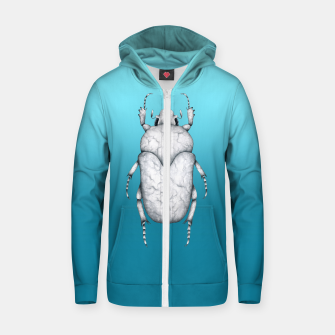 Marble Beetle (Blue Gradient Background) Zip up hoodie miniature
