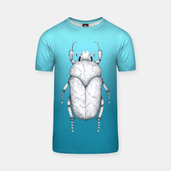 Marble Beetle (Blue Gradient Background) T-shirt miniature