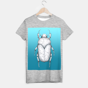 Marble Beetle (Blue Gradient Background) T-shirt regular miniature