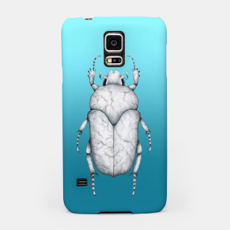 Marble Beetle (Blue Gradient Background) Samsung Case miniature