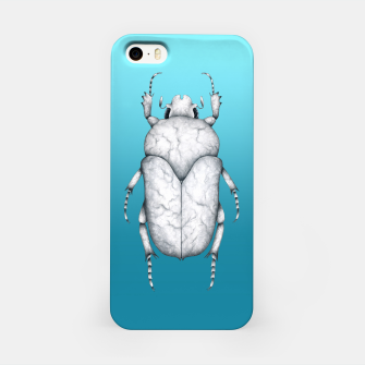 Marble Beetle (Blue Gradient Background) iPhone Case miniature