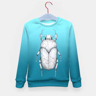 Marble Beetle (Blue Gradient Background) Kid's sweater miniature