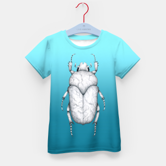 Marble Beetle (Blue Gradient Background) Kid's t-shirt miniature