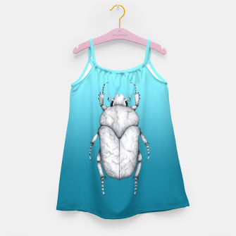 Marble Beetle (Blue Gradient Background) Girl's dress miniature