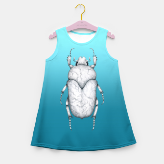 Thumbnail image of Marble Beetle (Blue Gradient Background) Girl's summer dress, Live Heroes
