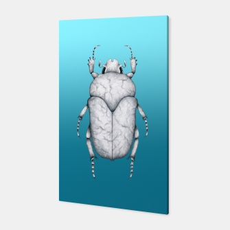 Marble Beetle (Blue Gradient Background) Canvas miniature