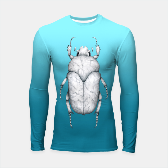 Marble Beetle (Blue Gradient Background) Longsleeve rashguard  miniature