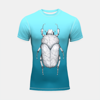 Marble Beetle (Blue Gradient Background) Shortsleeve rashguard miniature