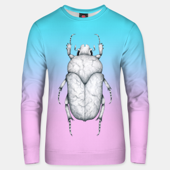 Miniaturka Marble Beetle (Pink and Blue Gradient Background) Unisex sweater, Live Heroes