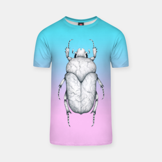 Marble Beetle (Pink and Blue Gradient Background) T-shirt miniature