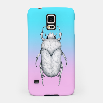 Marble Beetle (Pink and Blue Gradient Background) Samsung Case miniature