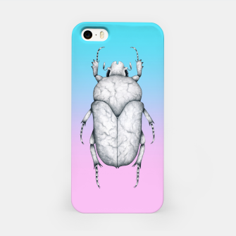 Marble Beetle (Pink and Blue Gradient Background) iPhone Case miniature
