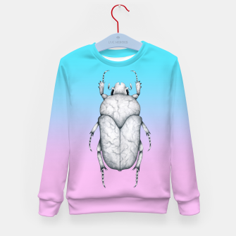 Marble Beetle (Pink and Blue Gradient Background) Kid's sweater miniature