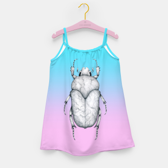 Marble Beetle (Pink and Blue Gradient Background) Girl's dress miniature