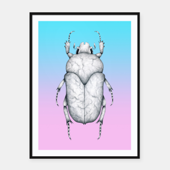 Marble Beetle (Pink and Blue Gradient Background) Framed poster miniature