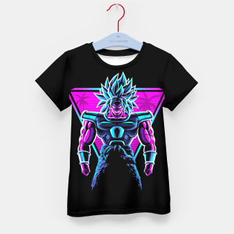 Thumbnail image of Retro legendary Warrior Camiseta para niños, Live Heroes