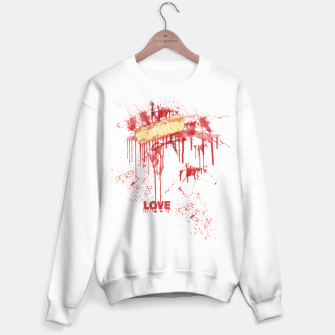 Thumbnail image of Bloody Stitches Love Sweater regular, Live Heroes