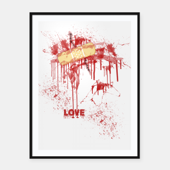 Bloody Stitches Love Framed poster miniature