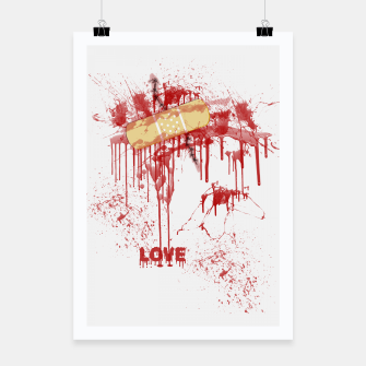Bloody Stitches Love Poster miniature