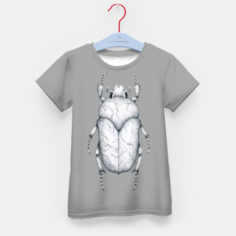 Thumbnail image of Marble Beetle (Grey Background) Kid's t-shirt, Live Heroes