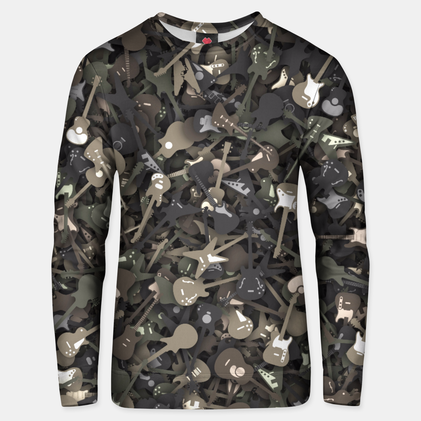 Image de Guitar camouflage Unisex sweater - Live Heroes