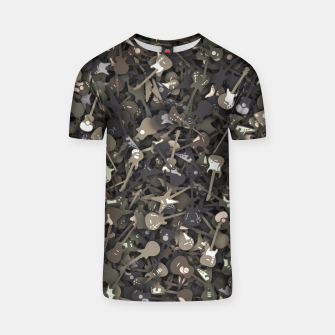 Guitar camouflage T-shirt miniature