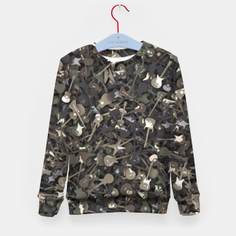 Guitar camouflage Kid's sweater miniature