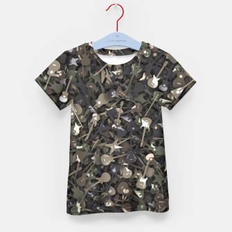 Guitar camouflage Kid's t-shirt miniature