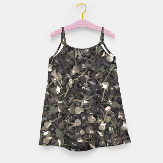 Guitar camouflage Girl's dress miniature