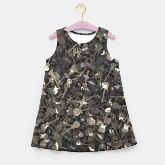 Thumbnail image of Guitar camouflage Girl's summer dress, Live Heroes