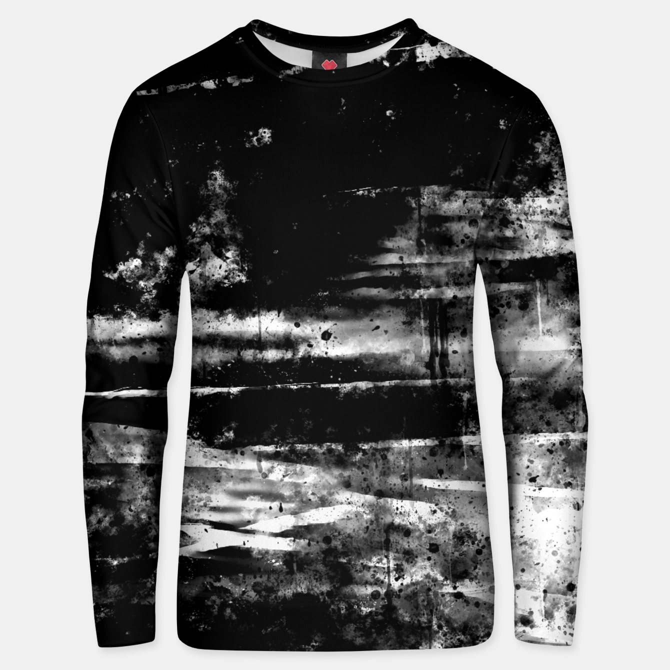 Image de psychedelic sky clouds pattern wsbw Unisex sweater - Live Heroes