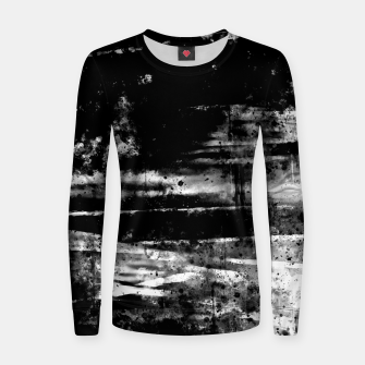 psychedelic sky clouds pattern wsbw Women sweater miniature