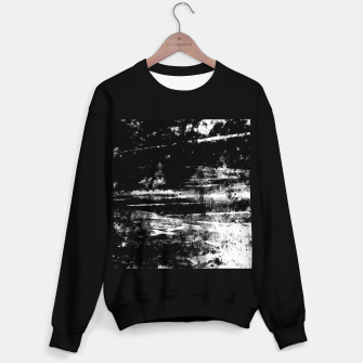 psychedelic sky clouds pattern wsbw Sweater regular miniature
