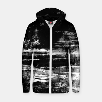 psychedelic sky clouds pattern wsbw Zip up hoodie miniature