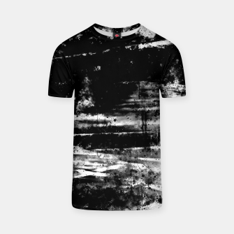 psychedelic sky clouds pattern wsbw T-shirt miniature