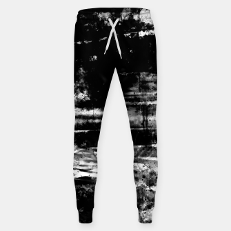psychedelic sky clouds pattern wsbw Sweatpants miniature