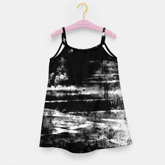 psychedelic sky clouds pattern wsbw Girl's dress miniature