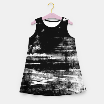 Thumbnail image of psychedelic sky clouds pattern wsbw Girl's summer dress, Live Heroes