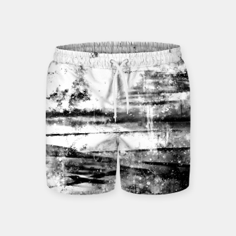 psychedelic sky clouds pattern wsbwi Swim Shorts miniature