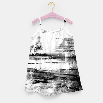psychedelic sky clouds pattern wsbwi Girl's dress miniature