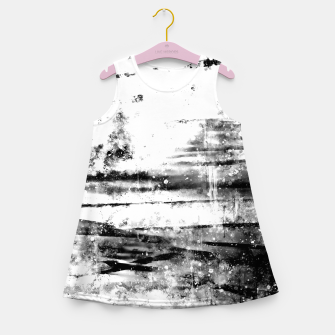 psychedelic sky clouds pattern wsbwi Girl's summer dress miniature