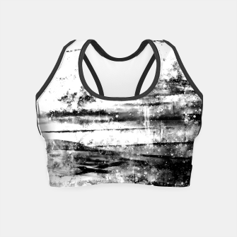 psychedelic sky clouds pattern wsbwi Crop Top miniature