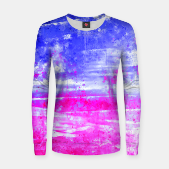 psychedelic sky clouds pattern wsdb Women sweater miniature